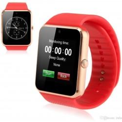 DAVILIS® GT08 Smartwatch - Cassa Bronzo Bracciale rosso